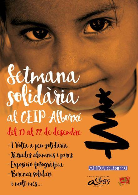 Setmana Solidària al CEIP Alborxí